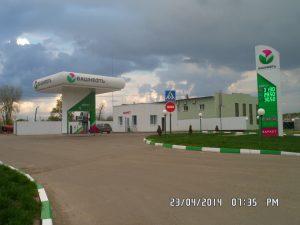 Облицовка АЗС Башнефть в Воронеже